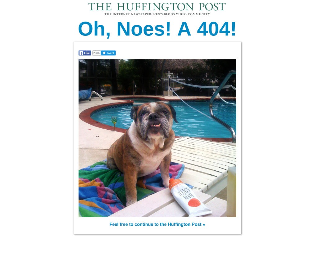 The Huffington Post 404 Page
